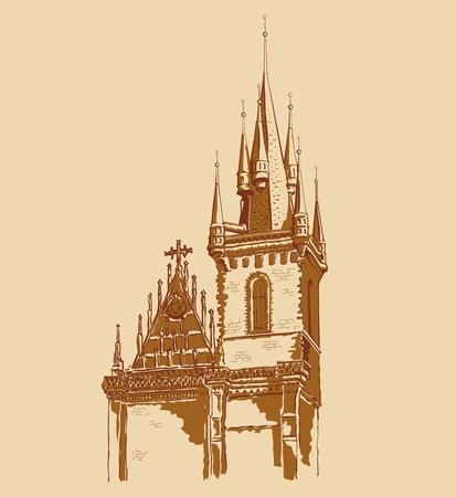 vector Prague landmark