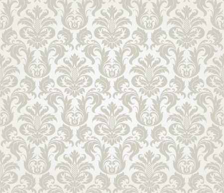 Vector seamless floral damask pattern for wedding invitation or vintage abstract background Vector