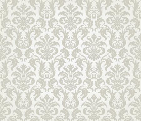 damast: Vector seamless floral Damast-Muster f�r Hochzeitseinladung oder vintage abstrakten Hintergrund