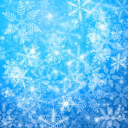 Winter blue background with snowflakes Stok Fotoğraf - 11811374
