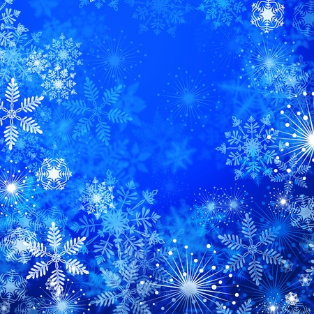 flicker: Winter blue background with snowflakes  Stock Photo