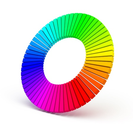 3d color wheel isolated on white background Stok Fotoğraf - 11811362