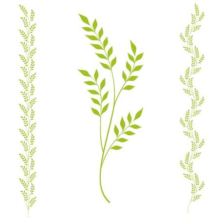 Vector abstract floral design element with foliage Stock Vector - 12497649