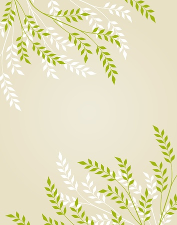 Vector abstract floral background with foliage Ilustração