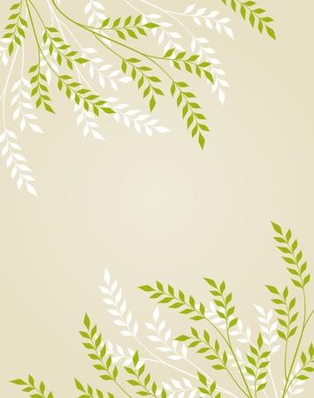 Vector abstracte florale achtergrond met loof