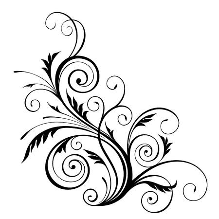 esquineros de flores: vector patr�n floral elemento de dise�o