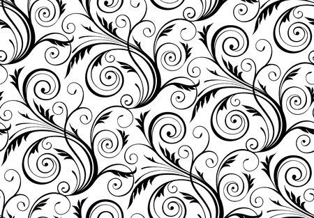 rococo: vector seamless abstract floral pattern