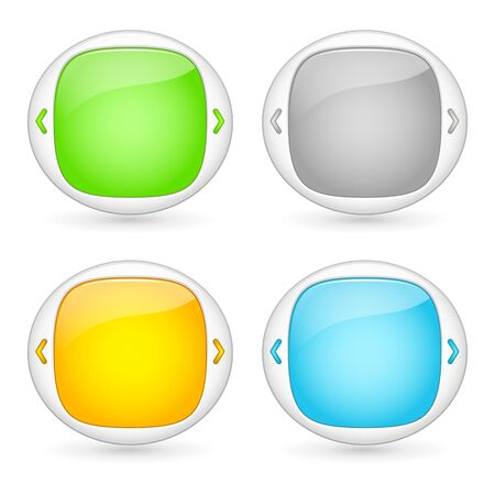 vector set of web interface element templates TV video player Vector