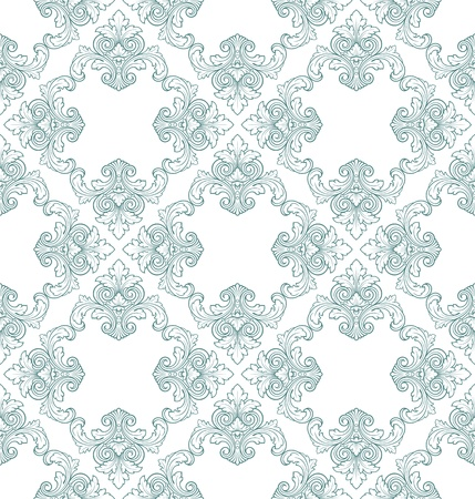 seamless floral damask pattern for wedding invitation or vintage abstract background Vector