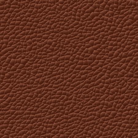 naadloze lederen textuur bruine achtergrond patroon Vector Illustratie