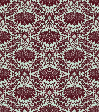 seamless vintage damask pattern background with floral retro ornament