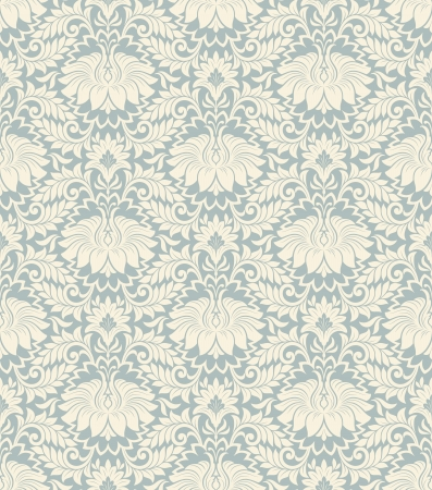 vector seamless vintage damask pattern background with floral retro ornament  in antique baroque style ornate decorative  calligraphy design flower