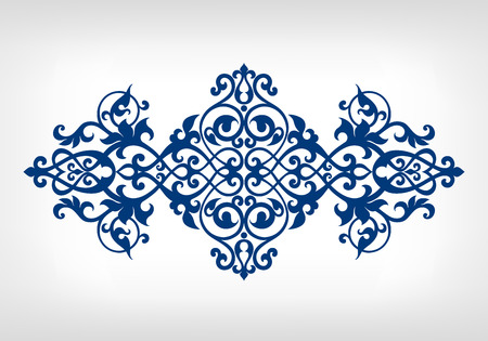 vintage barokke kalligrafie grenskader kaart ornament Stock Illustratie