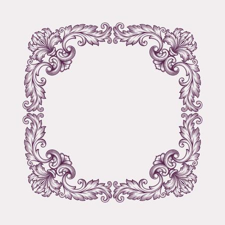 acanthus: vintage Baroque scroll design frame