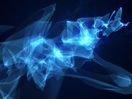 Abstract blue background hi tech motion design cosmic glow lighting effects dynamic energy futuristic science sci fi wallpaper shiny wave Banque d'images