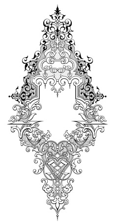 engraved frame vintage baroque victorian frame border monogram floral ornament leaf scroll engraved retro flower