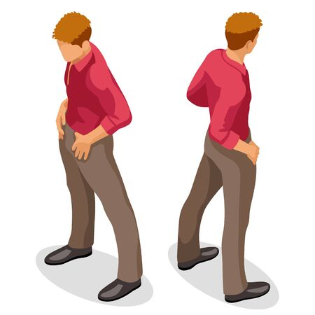 isometric people 3d flat man standing young businessman vector illustration