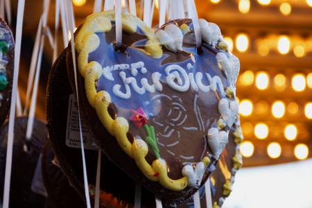 Gingerbread Heart Festival octoberfest Фото со стока