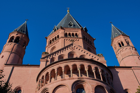 Cathedral of Mainz, St. Martins Cathedral Stock Photo