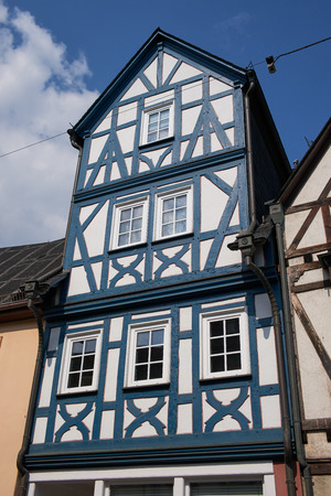 part of a half-timbered house in Germany