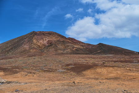 montana roja near Playa Blanca in Lanzarote Reklamní fotografie