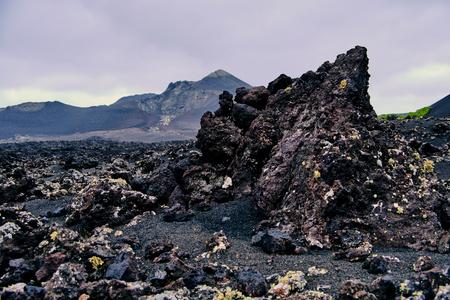 volcanic landscape around Timanfaya National Park in Lanzarote Reklamní fotografie