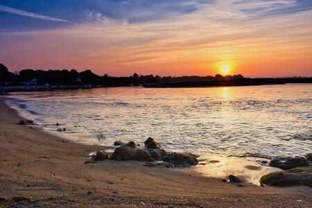 lagoon of Benodet in France during sunrise