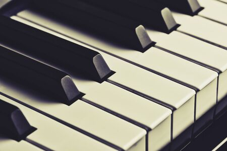 close up of piano keys in vintage style Stockfoto