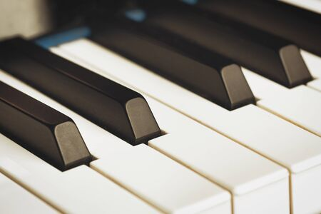 color picture of the black and white piano keys Stockfoto