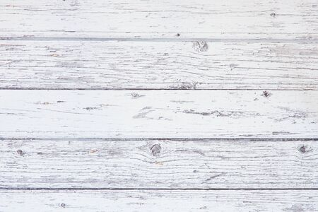 White rustic wood wall texture background with copy space