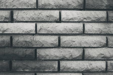 brickstone wall in black and white vintage style, picture background photo with copy space Imagens
