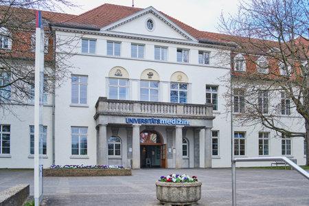 MAINZ, GERMANY - March 29, 2019: The University Medical Center of the Johannes Gutenberg University Mainz.