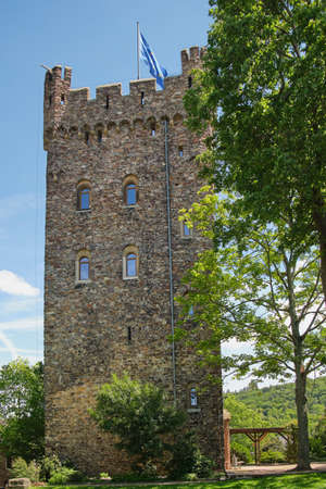 Bingen, Rhineland-Palatinate, Germany on May 26, 2019: Castle Klopp in Bingen, Germany on a sunny day.