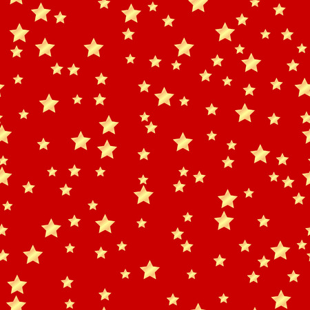 paperhanging: seamless pattern of gold stars on a red background.holiday background.vector