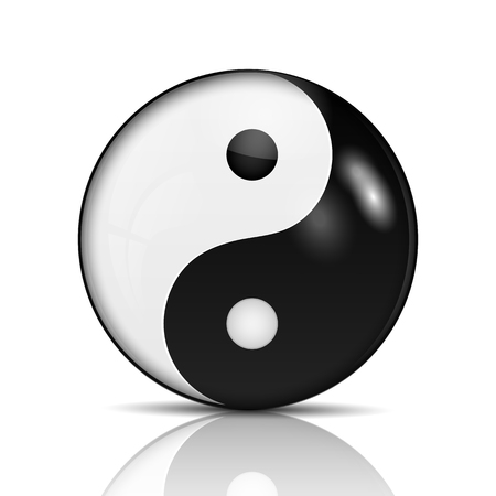 easterly: Ying yang symbol of harmony and balance.vector Illustration