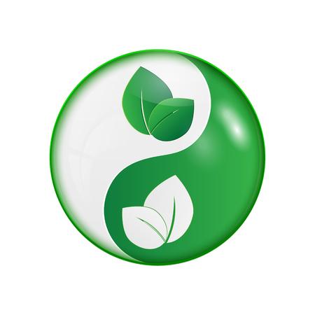 Ying yang symbol of harmony and balance.vector Illustration