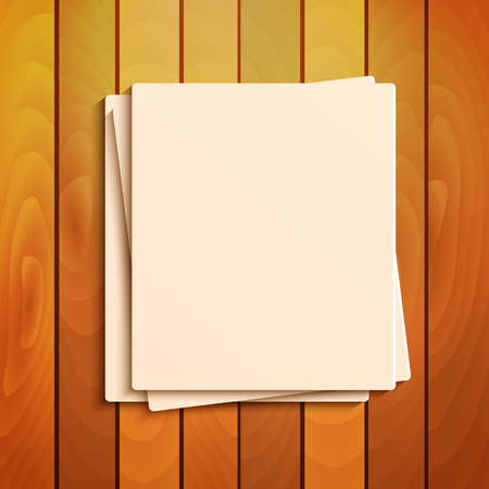 jotter: blank sheets of paper on the background a wooden surface.stationery.scratch paper.vector