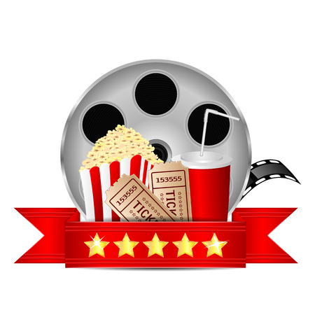 movie icon.items for cinema isolated on white background.vector Ilustração