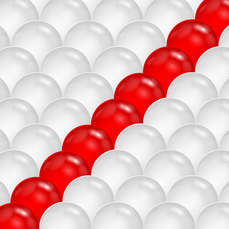 antipode: abstract background of gray and red spheres.abstraction of the balls.vector