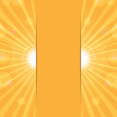 blinding: orange sunny background.sun rays and glare on an orange background.vector
