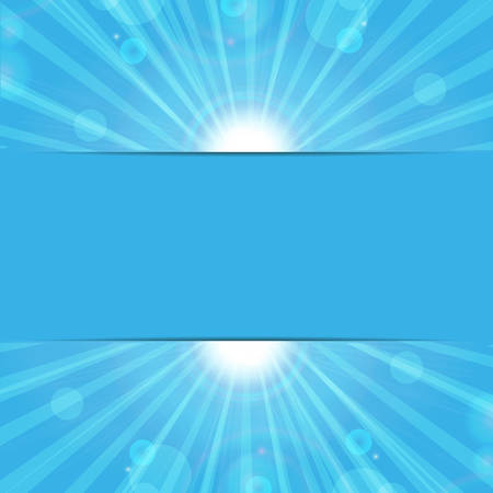 pulp: abstract background.sunbeams on a blue background.eco background