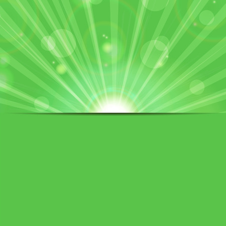 abstract background.sunbeams on a green background.eco background Illustration