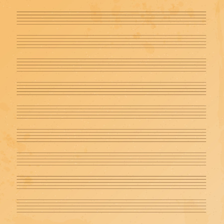 operetta: music paper.old music paper.grunge effect.musical background.vector Illustration