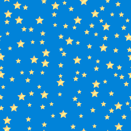 paperhanging: seamless pattern of gold stars on a blue background.holiday background.vector