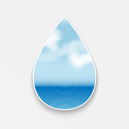 seascape.natural background.figure in the form of drops with seascape.vector