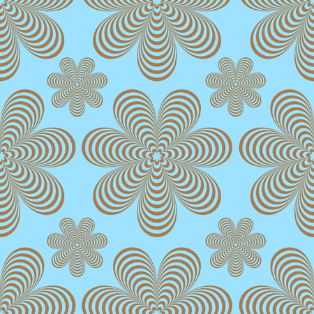 Seamless pattern of abstract flowers. Иллюстрация