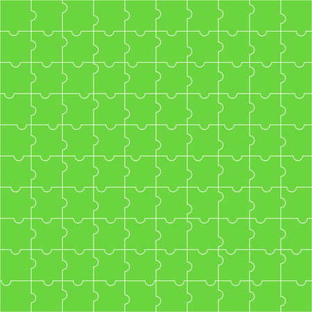 Seamless pattern of green puzzle. Abstract background.Vector