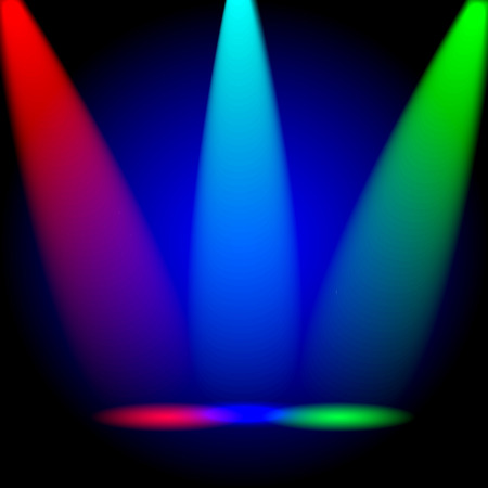 green lantern: bright colorful rays of light on a black background.vector