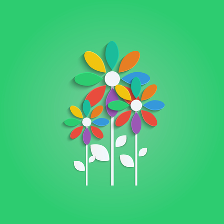 flowers with colorful petals.floral design.vector Illustration