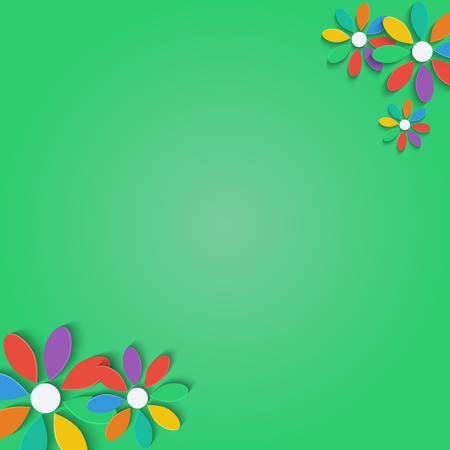 flowers with colorful petals.floral background.vector Illustration